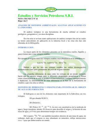 Estudios y Servicios Petroleros S.R.L - OilProduction.net