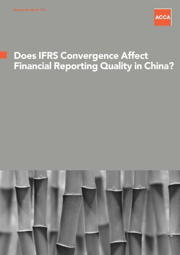 chinas ifrs convergence Us gaap and ifrs convergence raises numerous issues for companies protiviti can help assess the impact of these changes on your firm learn how.