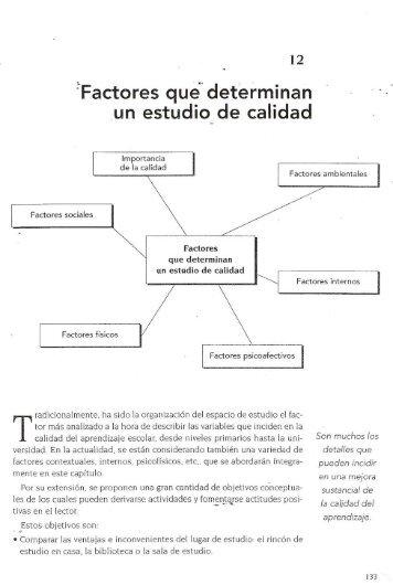 Factores que determinan un estudio de calidad - cbtis 179