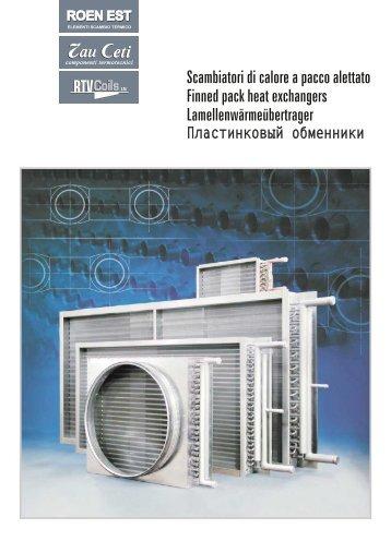 Dati tecnici technical da - Scambiatori di calore aria aria casa ...