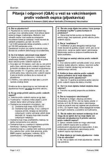 Pitanja i odgovori (Q&A) u vezi sa vakcinisanjem ... - NSW Health