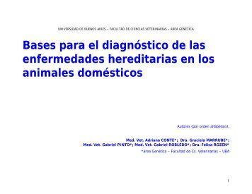 Bases para el diagnóstico de las enfermedades hereditarias en los ...