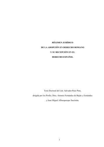 1 régimen jurídico de la adopción en derecho - Helvia :: Repositorio ...