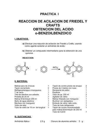 reaccion de acilacion de friedel y crafts - quimica organica