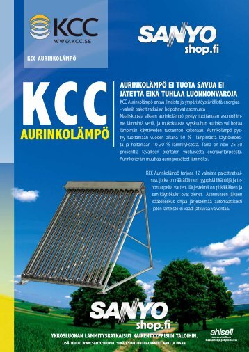 KCC aurinkolämpö - Ahlsell