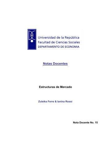Notas Docentes Estructuras de Mercado - Facultad de Ciencias ...