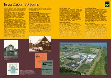 Enza Zaden 70 years