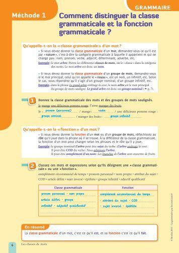 Comment distinguer la classe grammaticale et la ... - Webnode