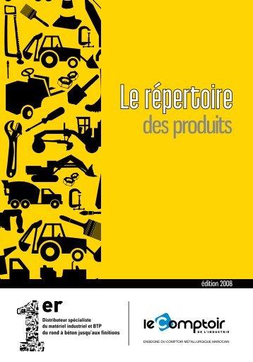 des produits - Le Comptoir Métallurgique Marocain..