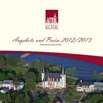 Angebote und Preise 2012/2013 - Schlosshotel Klink