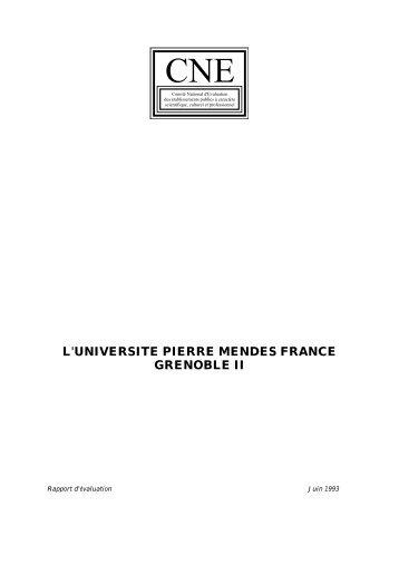 Grenoble II - Comité national d'évaluation de l'enseignement supérieur