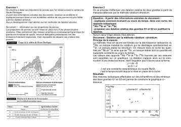 Exercice 1 Exercice 2 On se propose d'effectuer une ... - svtCharlie