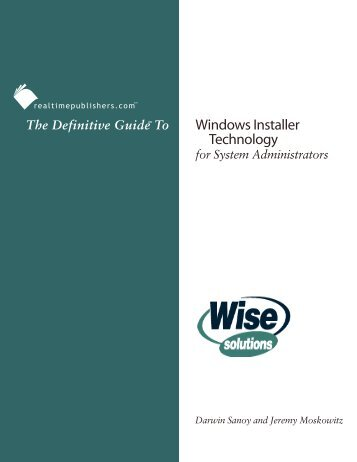 The Definitive Guide to Windows Installer Technology for System ...