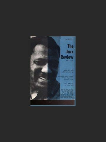 The Jazz Review - Jazz Studies Online