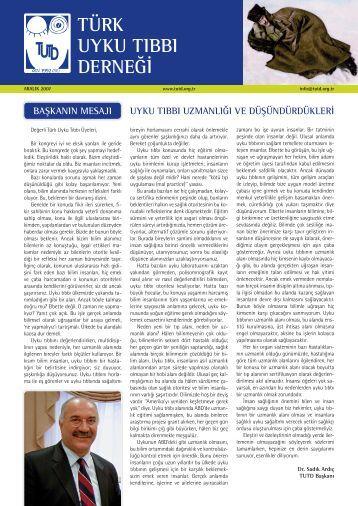 türk uyku tıbbı derneği