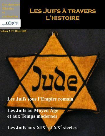 Les Juifs à travers l'histoire - Cégep de Sherbrooke
