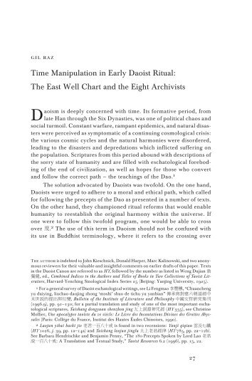 Time Manipulation in Early Daoist Ritual