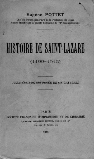 histoire de saint-lazare - Saint-Lazare as a Women's Prison: 1794 ...