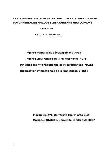 LES LANGUES DE SCOLARISATION DANS L'ENSEIGNEMENT ...