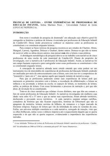 PRÁTICAS DE LEITURA - Associação de Leitura do Brasil