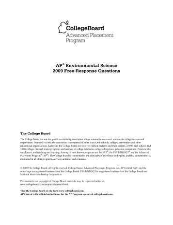 ap environmental science essay 2004 [epub book] 2004 frq ap environmental science answers [epub book] 2004 frq ap environmental science answers list of other ebook : home, the skillful teacher building your teaching skills, the rose that grew from concrete, the schism and heresy of england by saint alphonsus liguori, the.