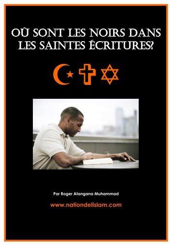Où sont les Noirs dans les Saintes Écritures - Nation de l'Islam