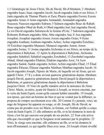 French Bible - New Testament - GospelGo