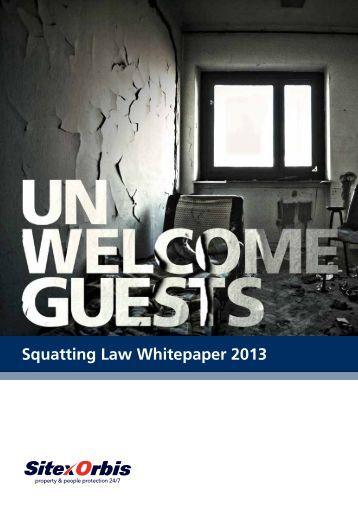 Squatting Law Whitepaper 2013 - SitexOrbis