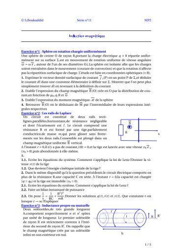 Induction magnétique - Webnode