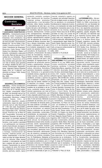 Boletin Oficial N 27966 del 14/08/2007 - Gobernación de Mendoza ...