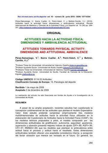 Actitudes hacia la Actividad Física - Comunidad Virtual CIENCIAS ...