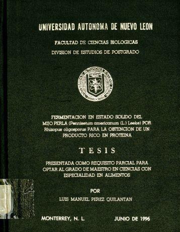 Fermentación en estado sólido del mijo perla - cdigital - Universidad ...