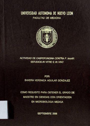 Actividad de caspofungina contra P. boydii - cdigital - Universidad ...