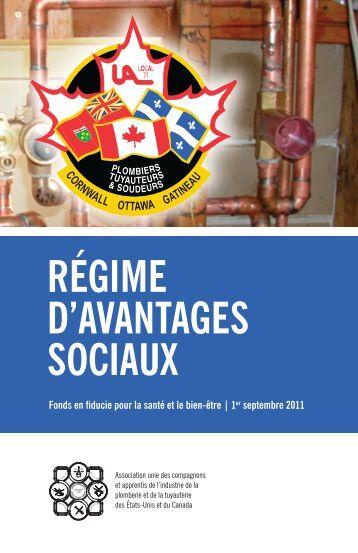 RÉGIME D'AVANTAGES SOCIAUX - Local 71