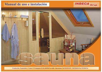Manual de uso e instalación - Saunas Inbeca
