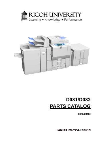 D081/D082 PARTS CATALOG