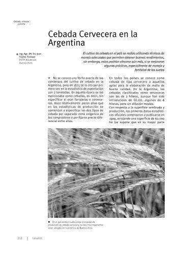 Cebada Cervecera en la Argentina