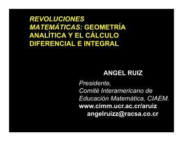 revoluciones matemáticas: geometría analítica y el cálculo ... - CIMM