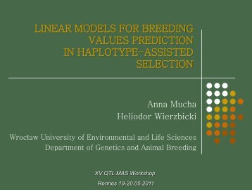 linear models for breeding values prediction in haplotype-assisted ...