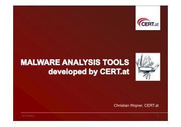 Malware Analysis Tools - SANS Computer Forensics