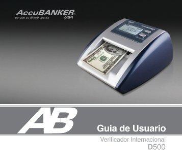 D500 Manual de Usuario - AccuBANKER