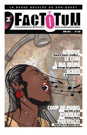 Conception graphique : Studio Les Artsbaletes - Journal Factotum