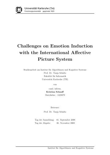 Challenges on Emotion Induction with the International Affective ...