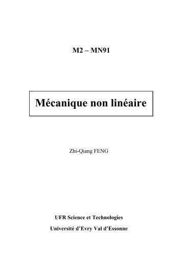 Mécanique non linéaire - LMEE