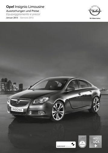Insignia Limousine Listino dei prezzi - Opel