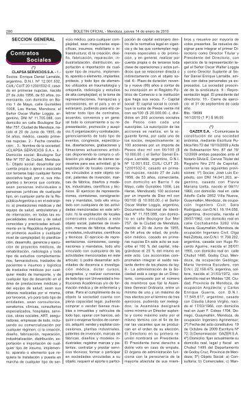 Contratos Sociales - Gobierno de Mendoza