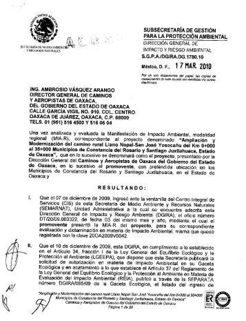 subsecretaria de gestión para la protección ... - sinat - Semarnat