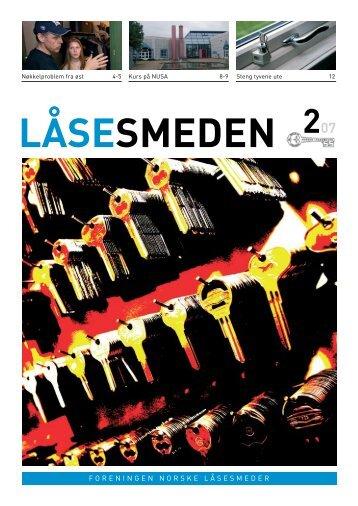 Last ned Låsesmeden nr. 2 2007 - Foreningen Norske Låsesmeder