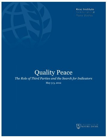 Quality Peace: The Role of Third Parties and the Search for Indicators