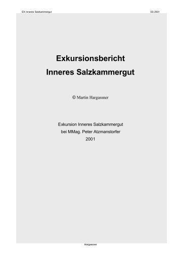 Exkurision Inneres Salzkammergut - Lehrer